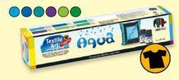 Sada barvy na textil Nerchau - sada Aqua, textile art