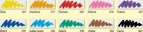 Fixy na textil Nerchau - jednotlivé barvy textile art