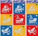 Šablona 3ks - auto, loď, letadlo