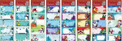 Samolepící jmenovky na dárky vánoční AMOS