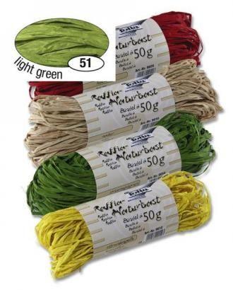 Přírodní lýko 50g - zelené