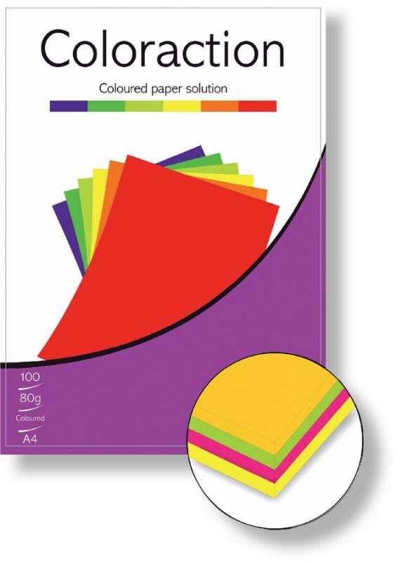 Barevné papíry A4 80g 100ks reflexní žlutá ostatní