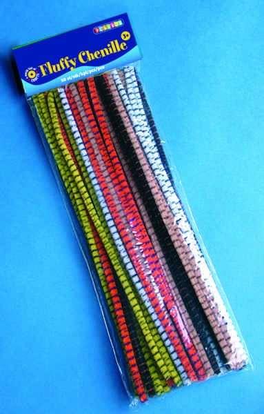 Chlupaté dráty 30 cm proužkované 50 ks ostatní