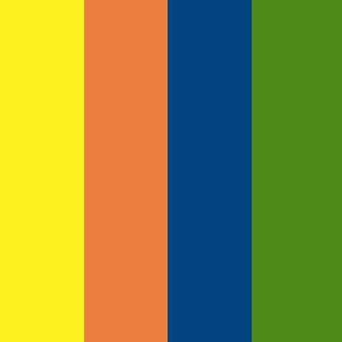 Color Dekor - zapékací folie mix barev 4 ks Efco