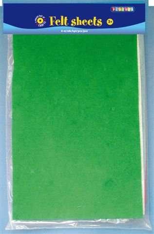 Filcový papír MIX 8 BAREV VELIKOST 21X29CM, SÍLA 1,5MM PLAYBOX