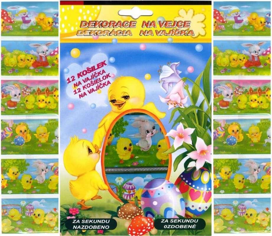Folie na vajíčka - košilky Kuřátka 12 ks AMOS