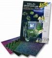 Holografická folie - samolepící - 23 x 33 cm - 4 listy