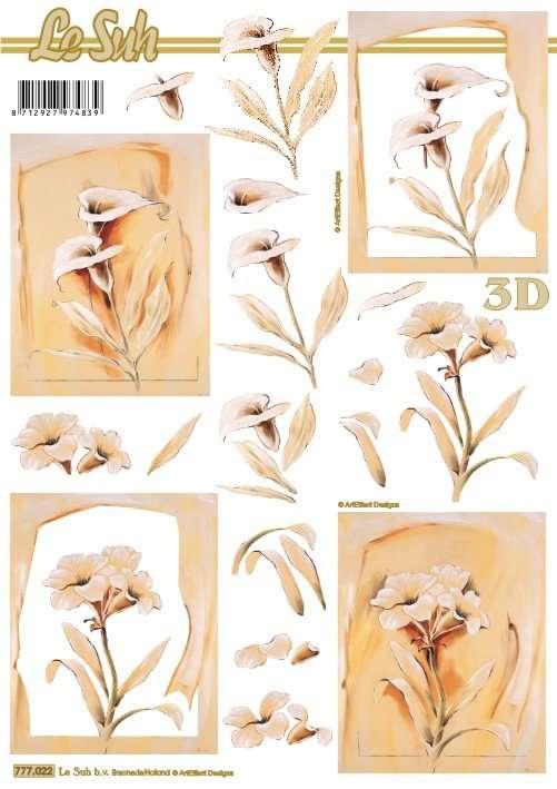 Kala béžová - 3D papír Le Suh