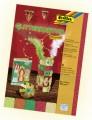 Karton se třpytkami - 300 g/m3 - oriental, 5 listů