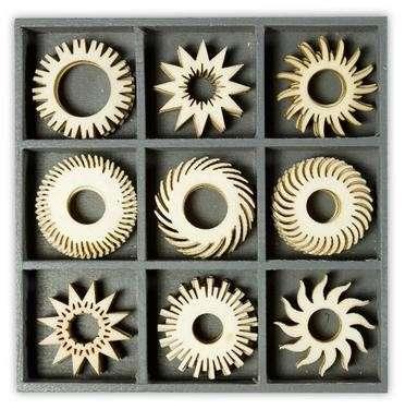 Mix dřevěných dekorací - SLUNEČNÍ 45 ks ostatní