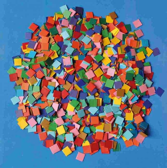 Papírová mozaika 1x1 cm 10.000 kusů ostatní