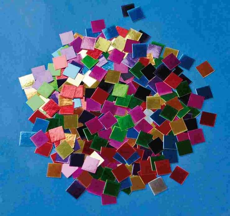 Papírová mozaika metalická lesklá 1x1 cm 10.000 kusů ostatní