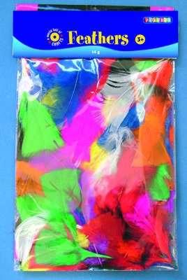 Peří měkké barevné 14g SMTCreatoys