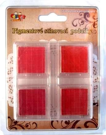 Pigmentové stínovací podušky - červené ostatní