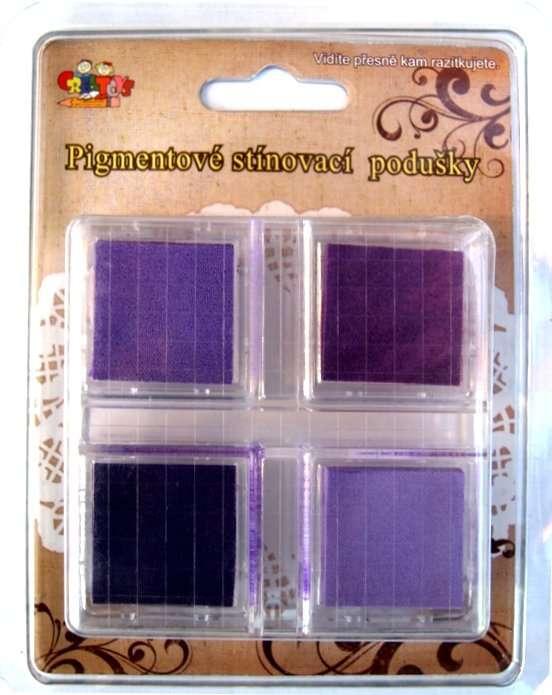 Pigmentové stínovací podušky - fialové ostatní
