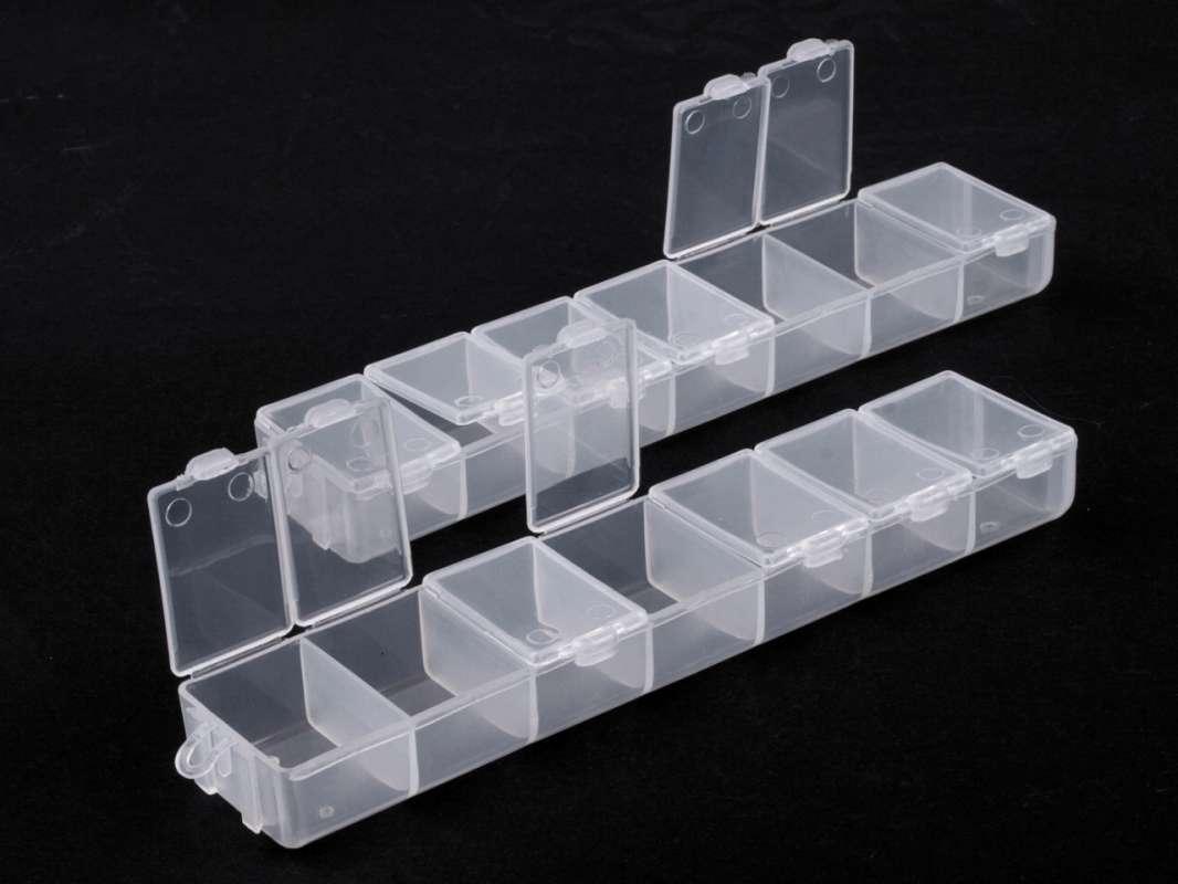 Plastový zásobník na korálky 30x35x150mm 2x7 okýnek ostatní