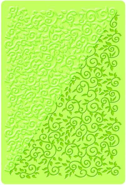 Textura - strukturovací podložka KVĚTINOVÉ VOLUTY DTM