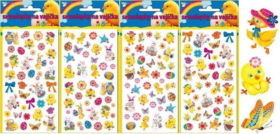 Velikonoční samolepky na vajíčka 19 x 9 cm AMOS