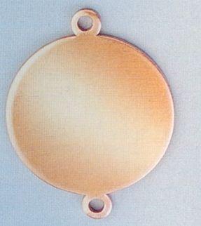 Výsek na smaltování kruh 20mm + 2 očka Efco