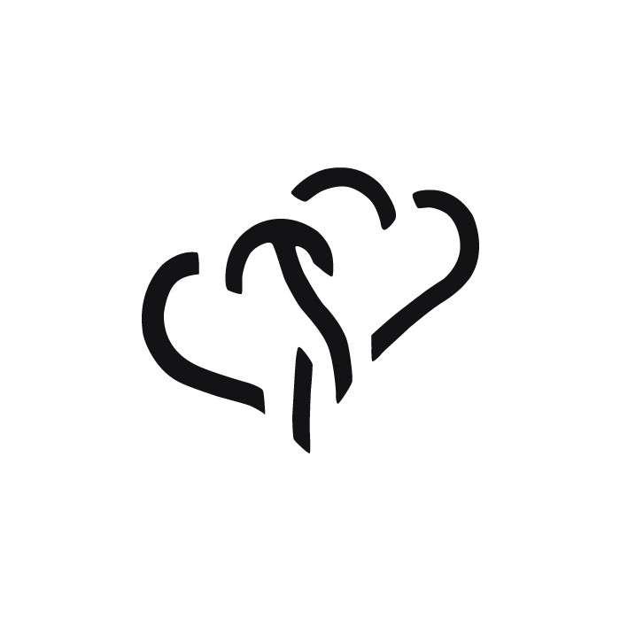 Razidlo (děrovačka, raznice) dvě srdce 2,2cm HEYDA