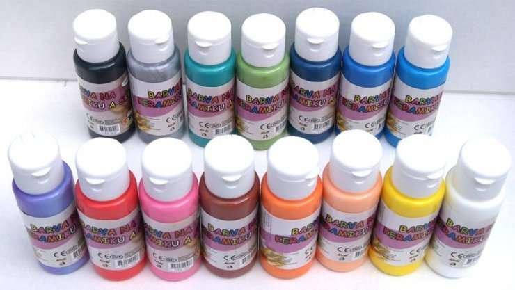 Barvy na keramiku a sklo 60ml - fialová 07 SMTCreatoys