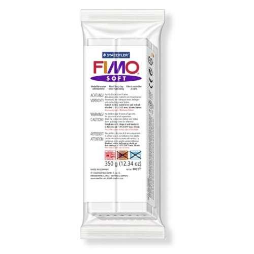 Fimo soft bílá 350g blok Staedtler