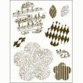 Gelová razítka - Kytky s motivy a stonky 15x20cm