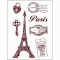 Gelová razítka - Paříž malá 10 x 15 cm