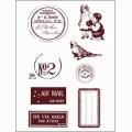 Gelová razítka - Poštovní razítko,známky,štítky.. 10 x 15 cm