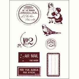 Gelová razítka - Poštovní razítko,známky,štítky.. 10 x 15 cm ostatní
