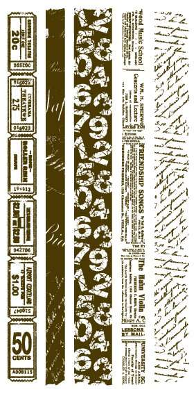Gelová razítka - sada Bordury s textem 10x20cm ostatní