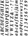 Gelová razítka - sada velké a malé písmena a číslice 15x20cm