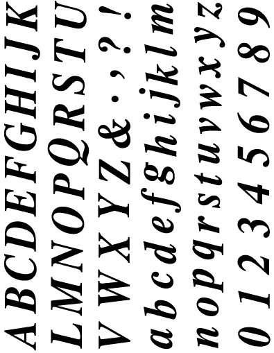 Gelová razítka - sada písmena a číslice 15x20 cm ostatní