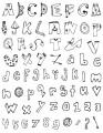 Gelová razítka - sada písmena a číslice OBRÁZKOVÁ