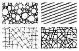 Gelová razítka - sada textura geometrie/bubliny 15x10 cm ostatní