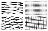Gelová razítka - textura geometrie/zebra 15x10 cm