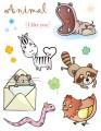 """Gelová razítka - sada Zvířátka """"Animal I like you"""" 15x20cm"""