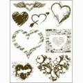 Gelová razítka - Srdce a srdíčka 15x20cm