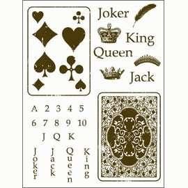 Gelová razítka - Žolíkové karty 15x20cm ostatní