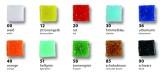 Mozaikové kamínky 10x10mm jednotlivé barvy 300 ks Folia