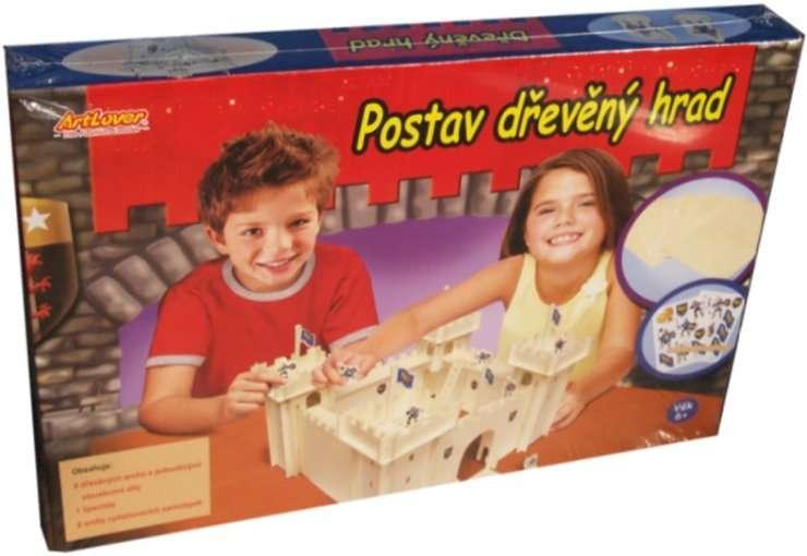 POSTAV DŘEVĚNÝ HRAD - skládačka SMTCreatoys