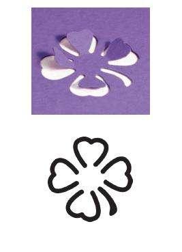 Razidlo (děrovačka, raznice) čtyřlístek obrysový 1,5cm HEYDA