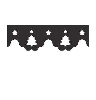 Razidlo (děrovačka, raznice) okrajové - bordura stromečky
