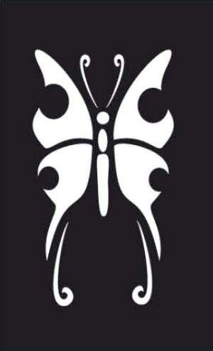 Samolepicí flexi mini šablona motýl 7x10 cm ostatní