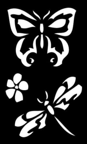 Samolepicí flexi mini šablona motýli 7x10cm ostatní