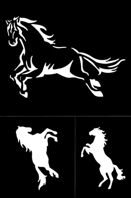 Samolepící flexi šablona koně 18x12 cm ostatní