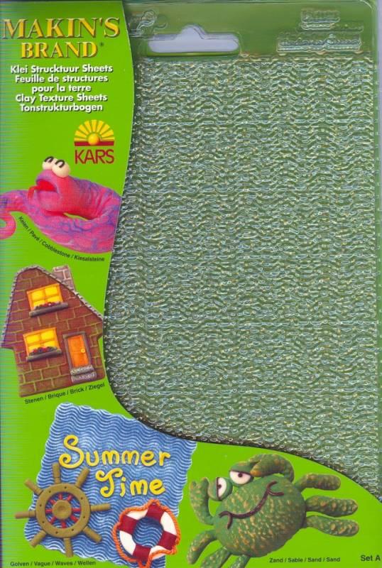 Textury ( strukturovací podložky) - sada A - písek, vlny, kamenná dlažba, cihly