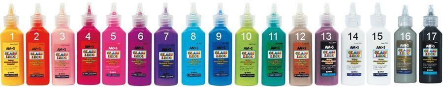 Barvičky na sklo Amos 22ml výběr barev