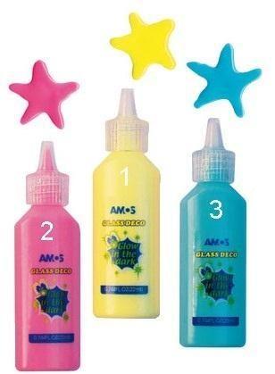Barvičky na sklo Amos 22ml zářící ve tmě výběr barev