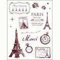 Gelová razítka - Paříž velká 14 x 18 cm